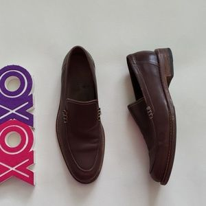 COLE HAAN dark brown loafers